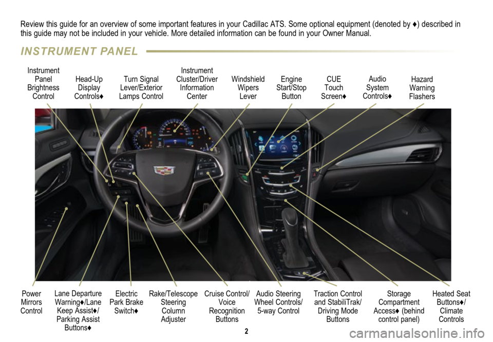 CADILLAC ATS 2015 1.G Personalization Guide, Page 2
