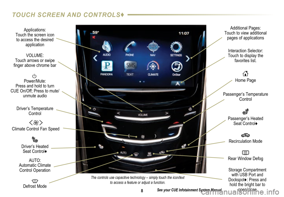 CADILLAC ATS 2015 1.G Personalization Guide, Page 8