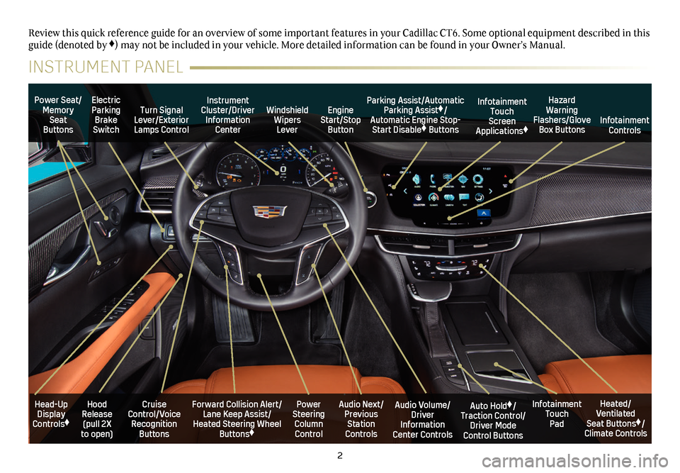 CADILLAC CT6 2018 1.G Personalization Guide, Page 2