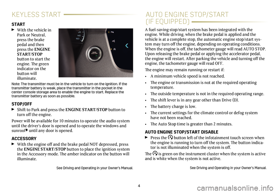CADILLAC CT6 2018 1.G Personalization Guide, Page 4