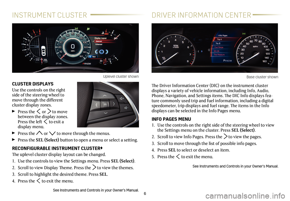 CADILLAC CT6 2018 1.G Personalization Guide, Page 6