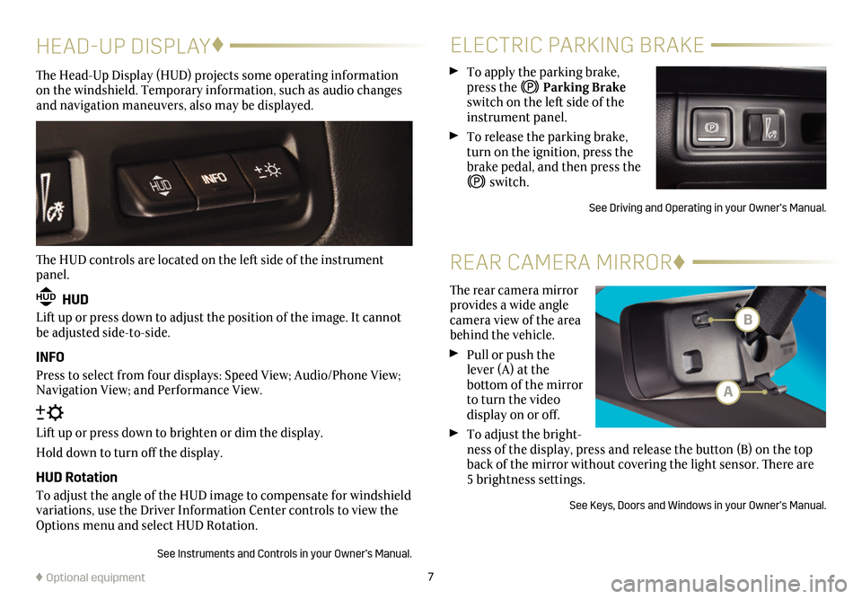 CADILLAC CT6 2018 1.G Personalization Guide, Page 7