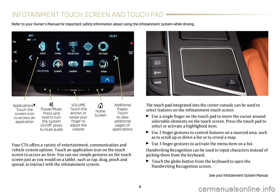 CADILLAC CT6 2018 1.G Personalization Guide, Page 8