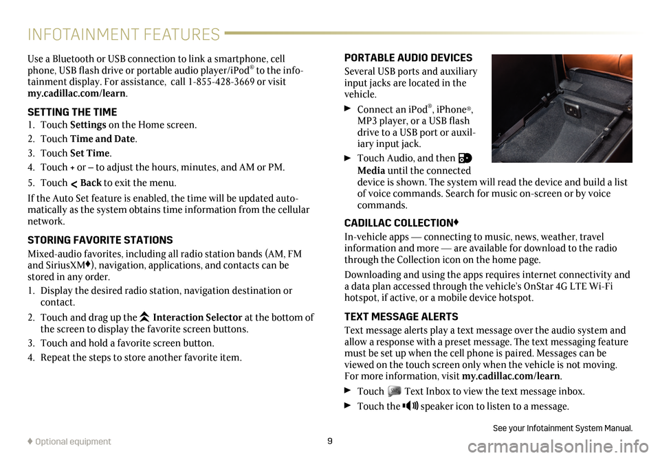 CADILLAC CT6 2018 1.G Personalization Guide, Page 9