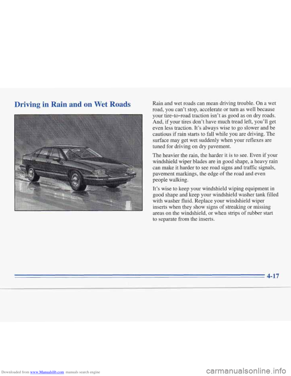 CADILLAC FLEETWOOD 1996 2.G Owners Manual, Page 162