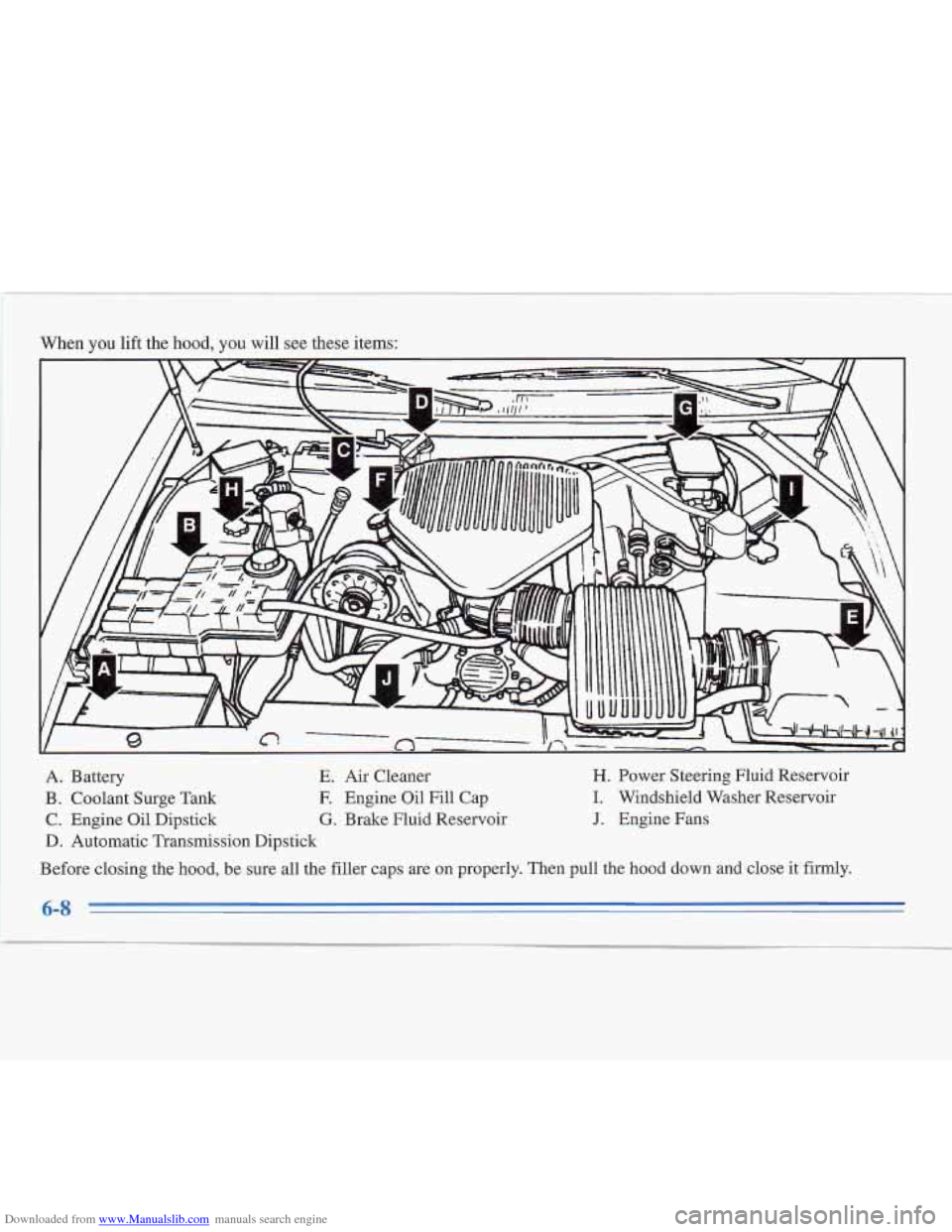 CADILLAC FLEETWOOD 1996 2.G Owners Manual, Page 225