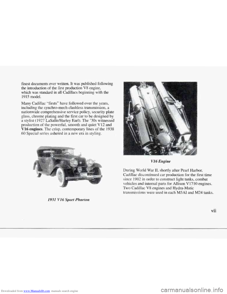 CADILLAC SEVILLE 1997 4.G Owners Manual, Page 8