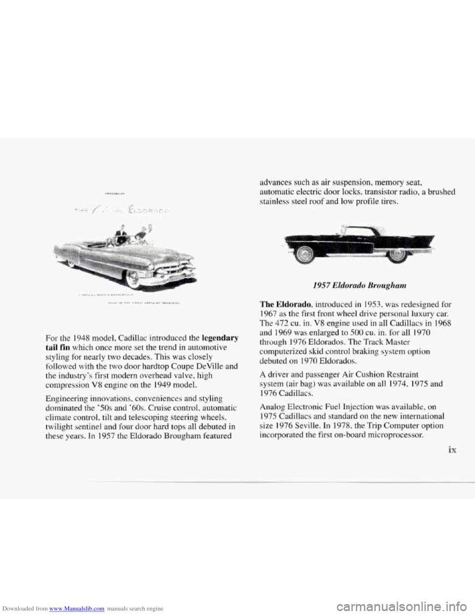 CADILLAC SEVILLE 1997 4.G Owners Manual, Page 10