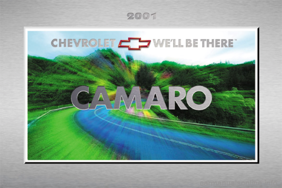 CHEVROLET CAMARO 2001 4.G Owners Manual, Page 1