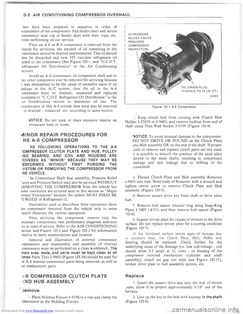 CHEVROLET MALIBU 1980 4.G Workshop Manual, Page 8