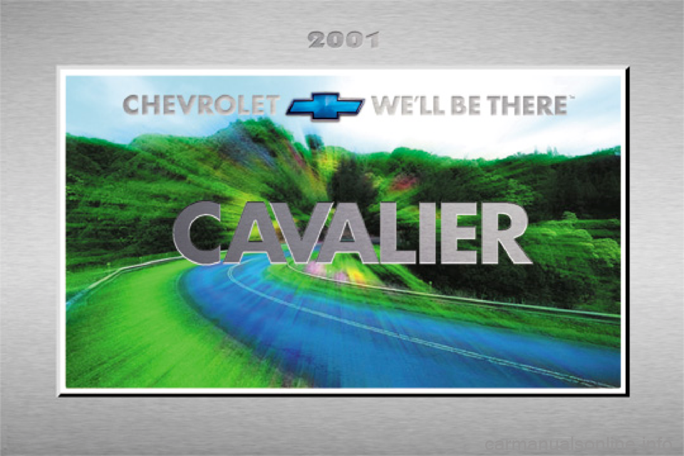 CHEVROLET CAVALIER 2001 3.G Owners Manual, Page 1