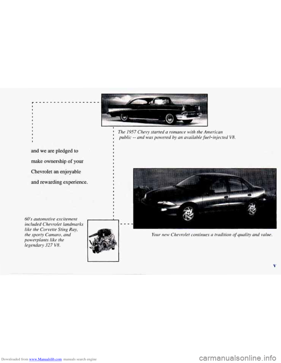 2001 chevy chevrolet cavalier owners manual