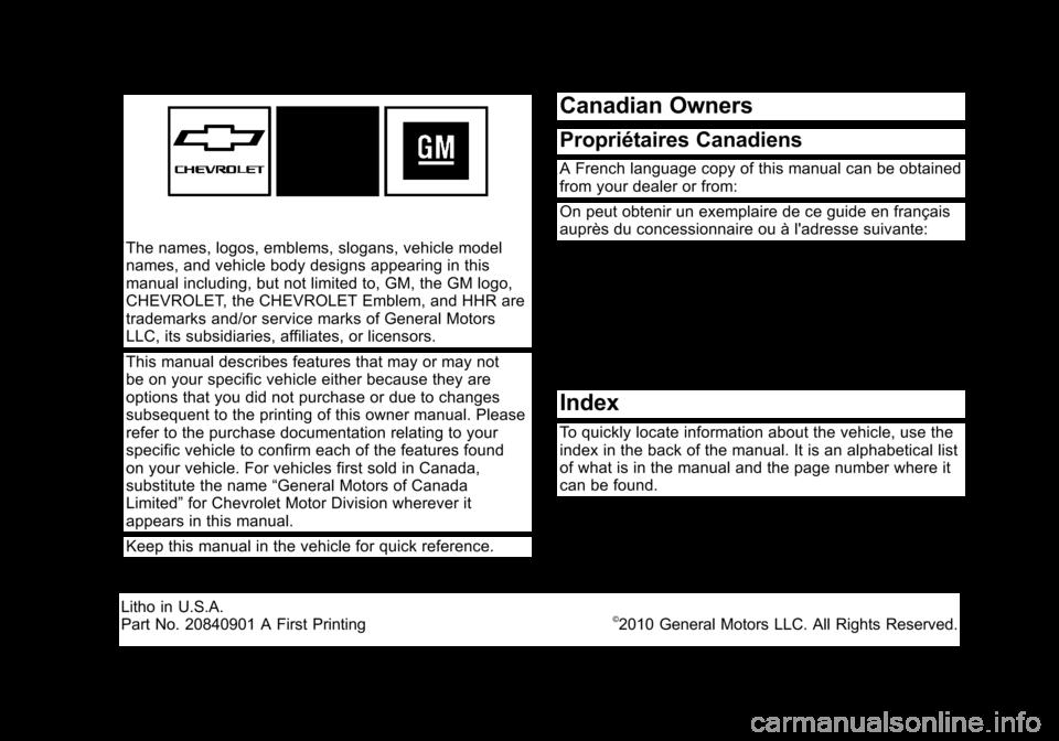 manual hhr 2011