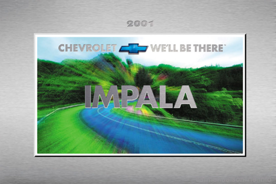 CHEVROLET IMPALA 2001 8.G Owners Manual, Page 1