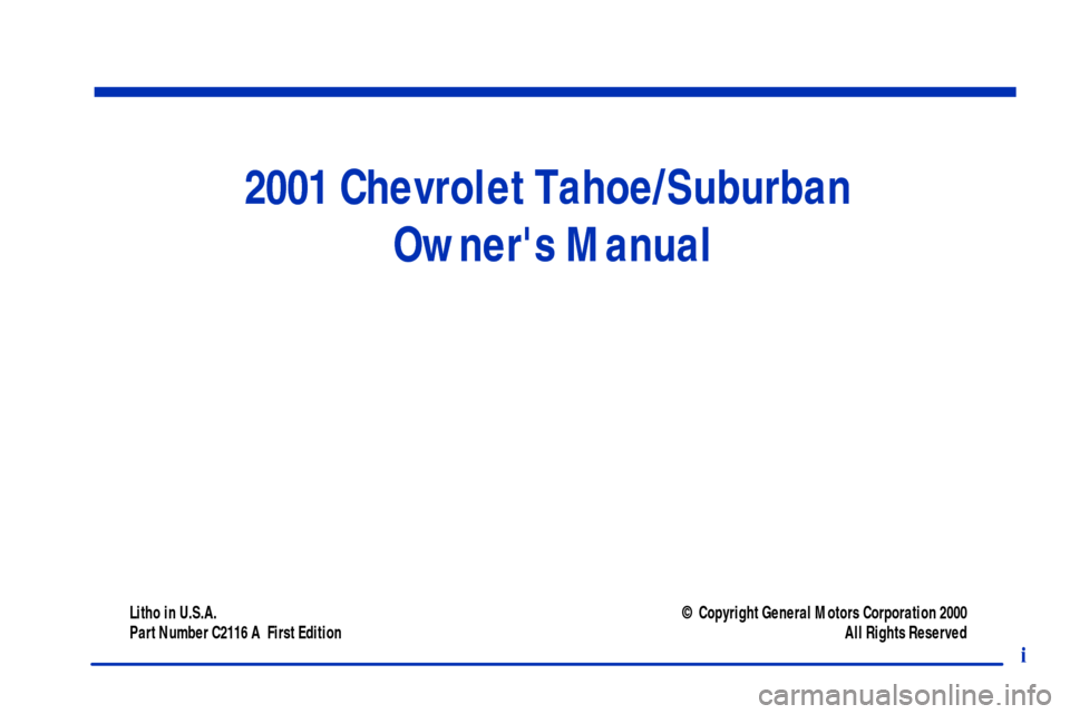 chevrolet tahoe 2001 2 g owners manual rh carmanualsonline info 2001 tahoe q3 owners manual 2002 Tahoe