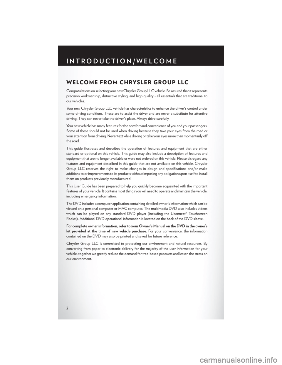CHRYSLER 200 2014 1.G User Guide, Page 4