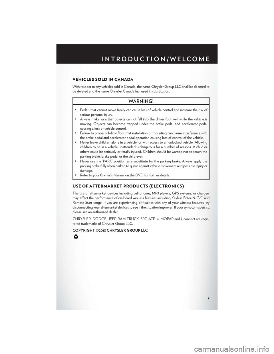 CHRYSLER 200 2014 1.G User Guide, Page 5