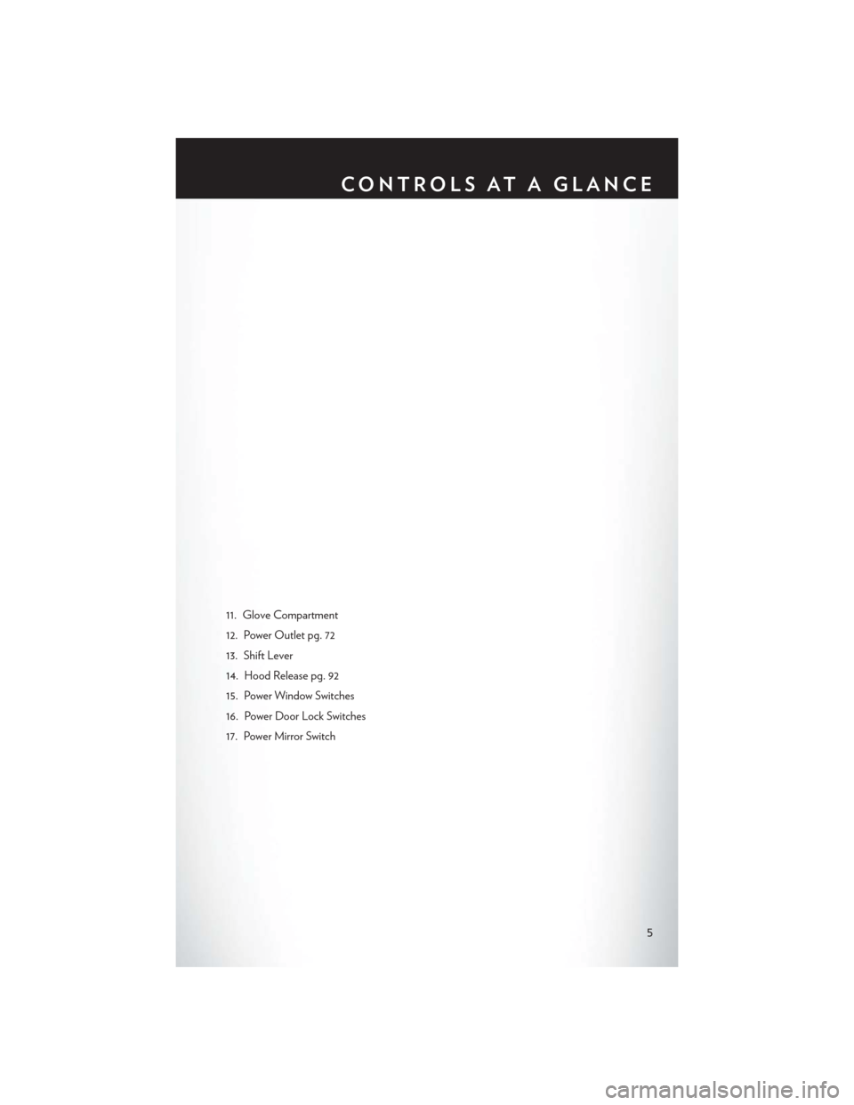 CHRYSLER 200 2014 1.G User Guide, Page 7