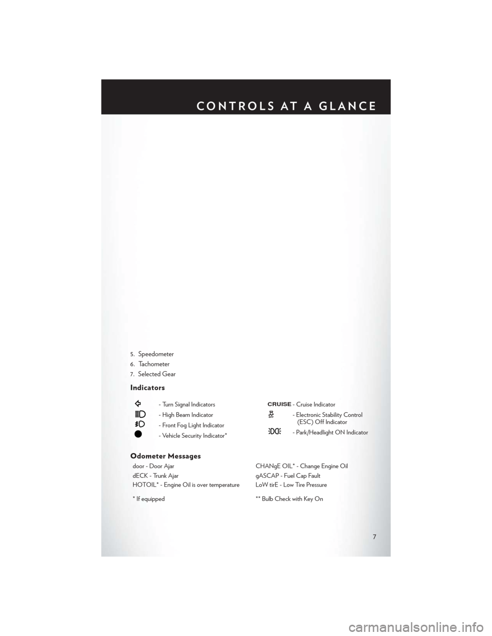 CHRYSLER 200 2014 1.G User Guide, Page 9