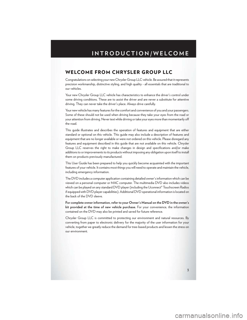 CHRYSLER 200 2015 2.G User Guide, Page 5