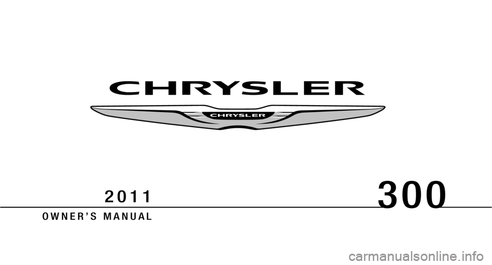 CHRYSLER 300 2011 2.G Owners Manual, Page 1