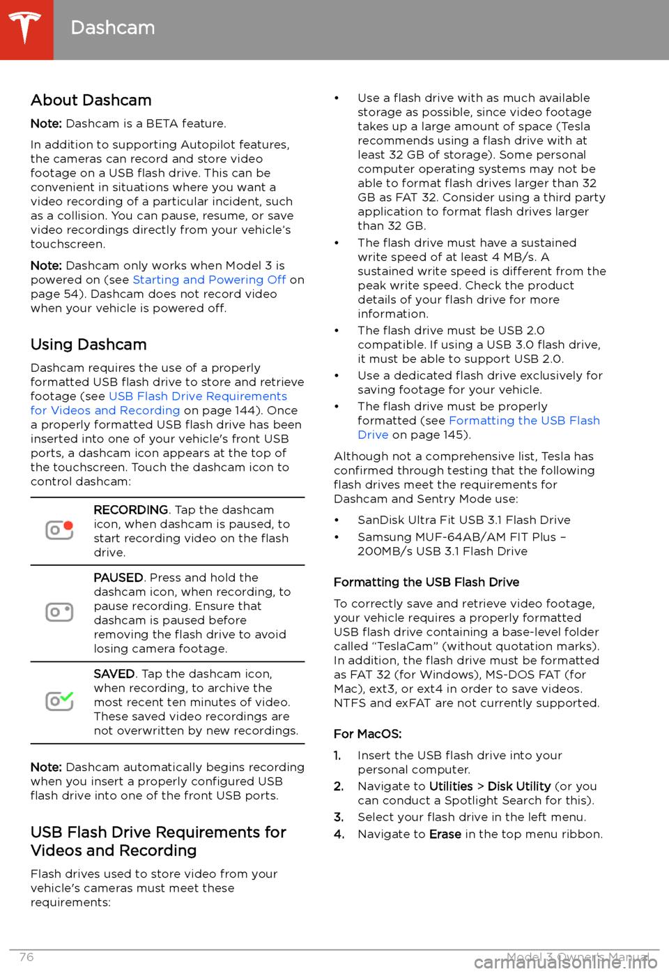 TESLA MODEL 3 2020 s Manual PDF (220 Pages)