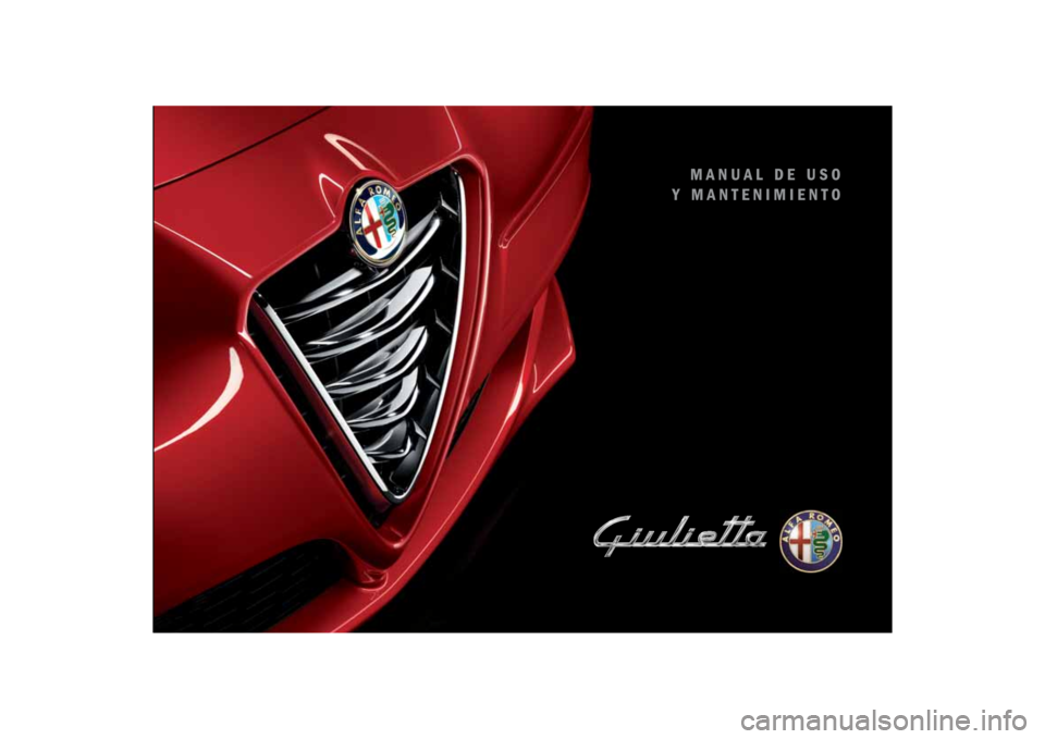 Alfa Romeo Giulietta 2014  Manual del propietario (in Spanish)