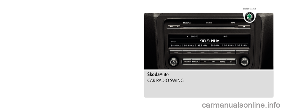 skoda octavia 2010 2 g 1z swing car radio manual. Black Bedroom Furniture Sets. Home Design Ideas