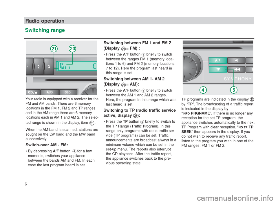 SKODA FABIA 2007 1.G / 6Y SymphonyCD Car Radio Manual, Page 7