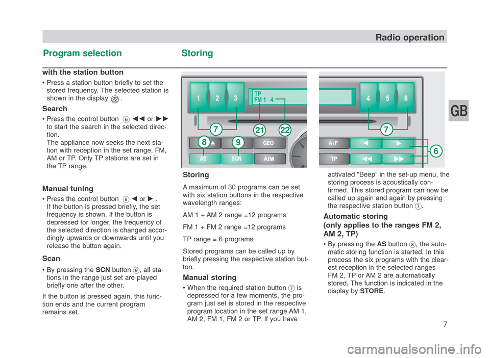 SKODA FABIA 2007 1.G / 6Y SymphonyCD Car Radio Manual, Page 8