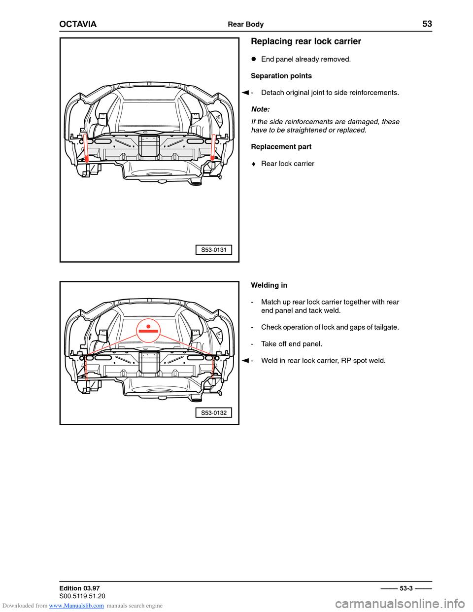 check engine skoda octavia 1997 1 g     1u  body repairs