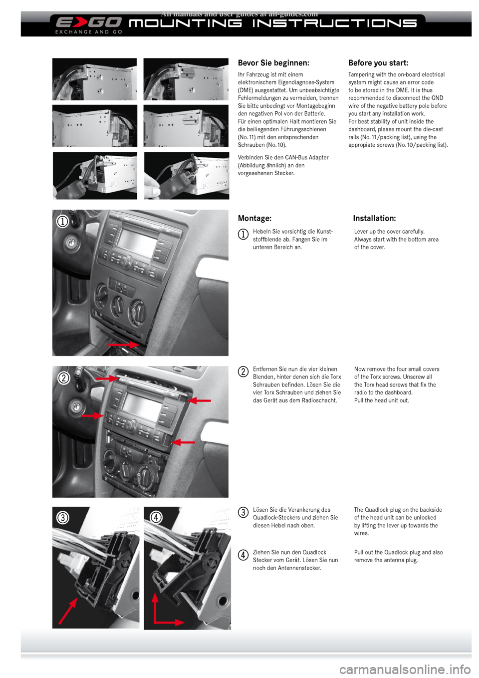 SKODA OCTAVIA 2008 2.G / (1Z) ZEMC5600 Mounting Instruction, Page 2