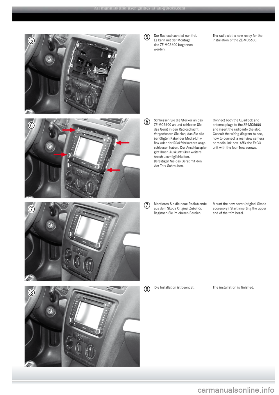 SKODA OCTAVIA 2008 2.G / (1Z) ZEMC5600 Mounting Instruction, Page 3