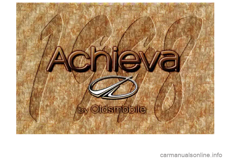 Oldsmobile Achieva 1998  Owners Manuals
