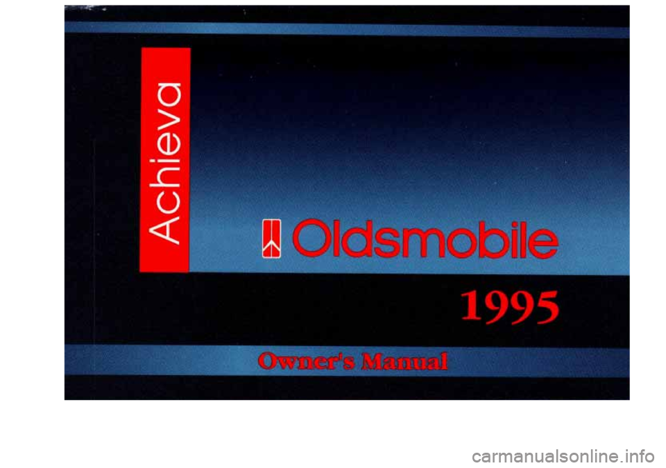 Oldsmobile Achieva 1995  Owners Manuals U  > 1  d