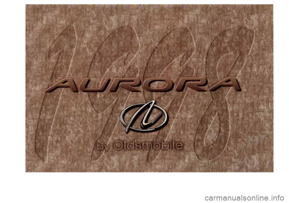 Oldsmobile Aurora 1998  Owners Manuals