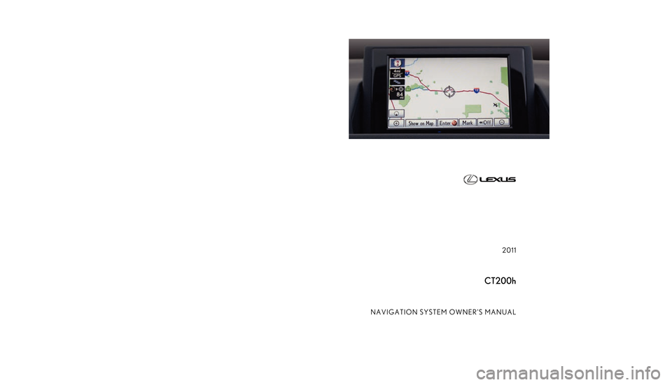 "Lexus CT200h 2011  Navigation Manual (in English) ""6 ))$. :,  6"