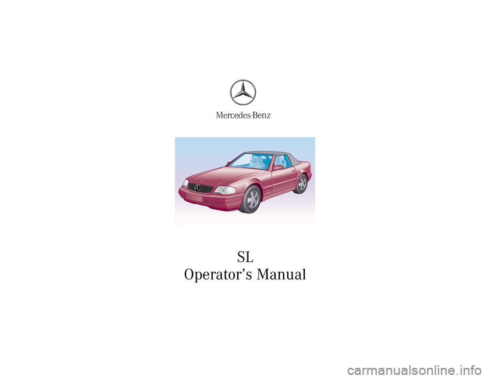 Mercedes benz sl500 2000 r129 owner 39 s manual for 2003 mercedes benz sl500 owners manual