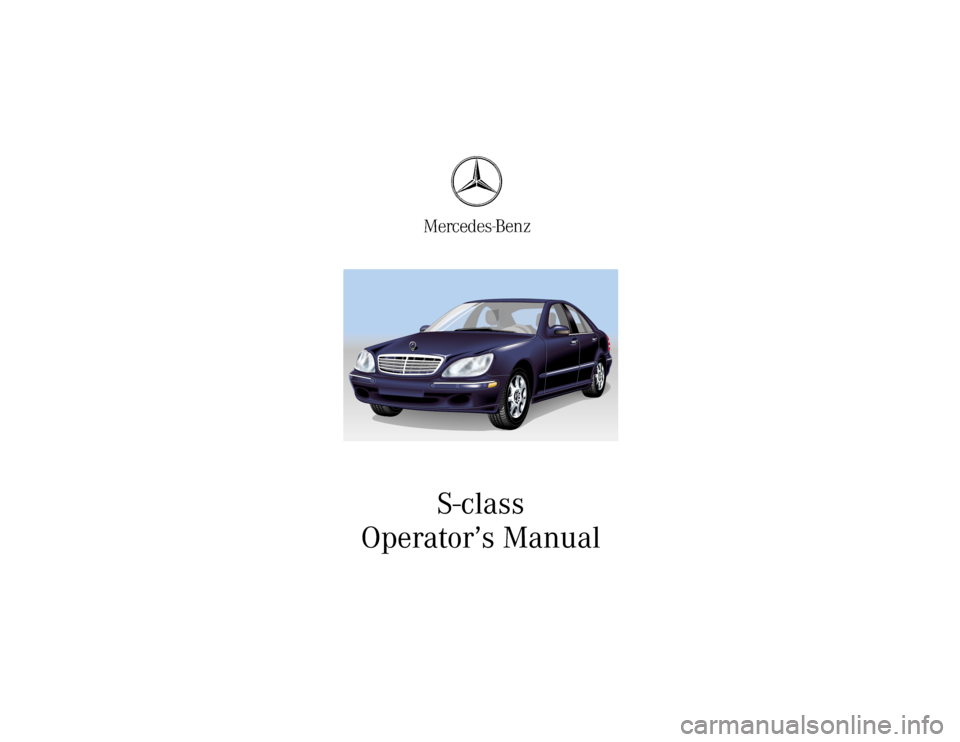 Mercedes benz e class 2001 w210 owner 39 s manual for Mercedes benz e class manual