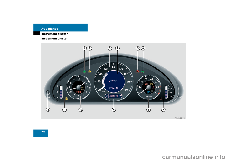 MERCEDES-BENZ CLK320 COUPE 2003 C209 Owners Guide, Page 22