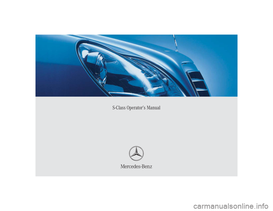 Mercedes benz s55amg 2004 w220 owner 39 s manual for Mercedes benz online repair manual