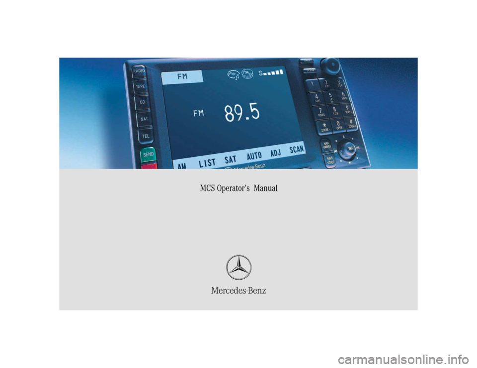 MERCEDES-BENZ M-Class 2004 W163 Comand Manual, Page 1