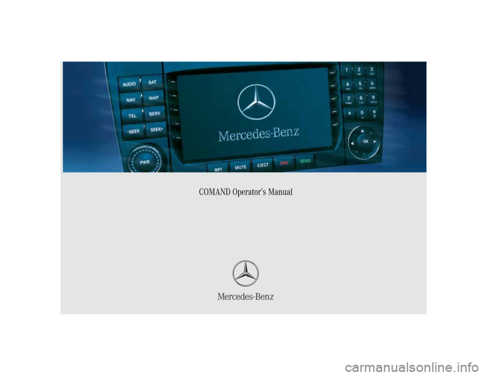 MERCEDES-BENZ C-Class 2005 W203 Comand Manual, Page 1