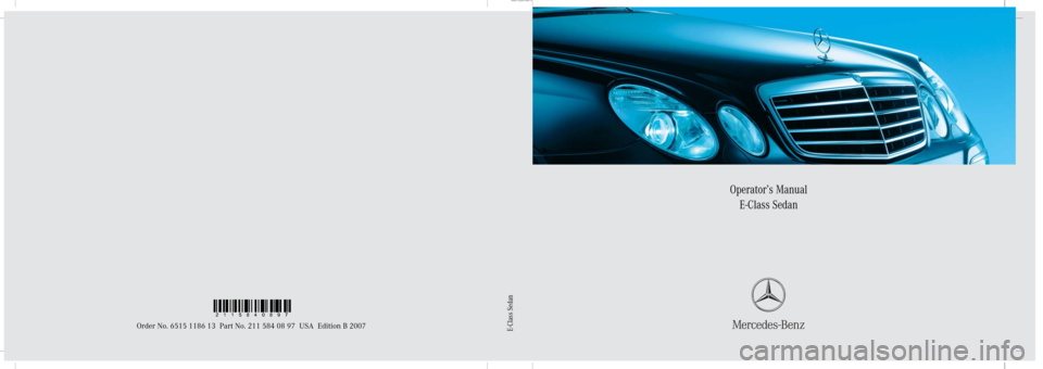 MERCEDES-BENZ E320 BLUETEC 2007 W211 Owners Manual, Page 1