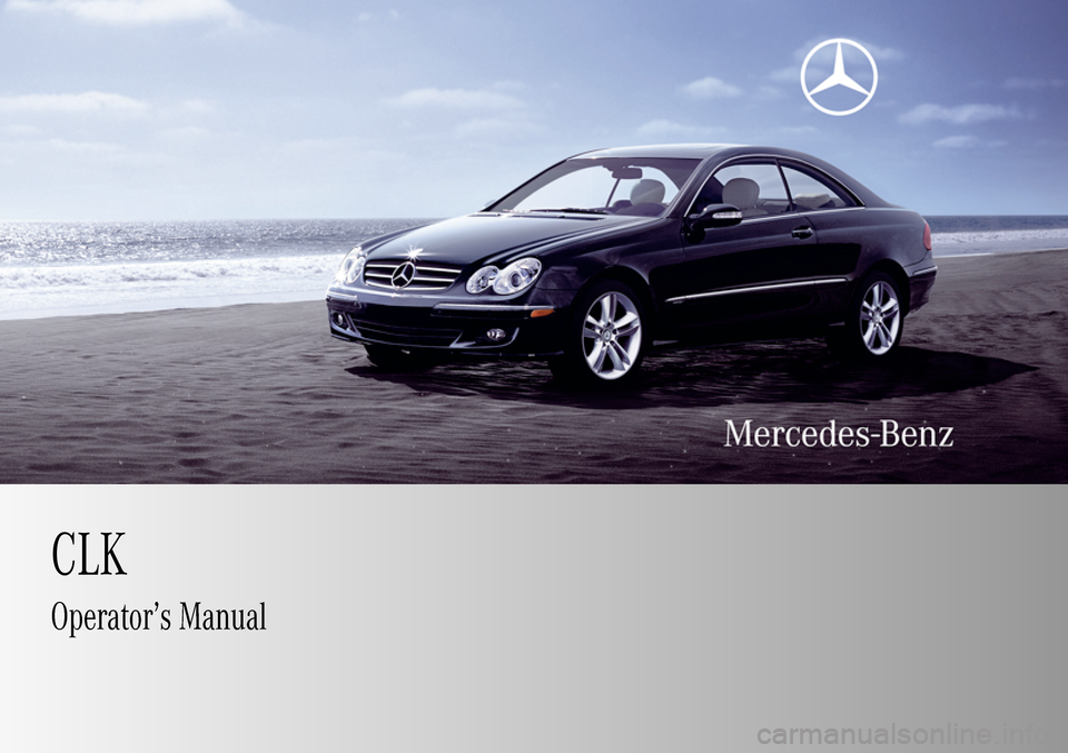 MERCEDES-BENZ CLK63AMG 2009 C208 Owners Manual, Page 1