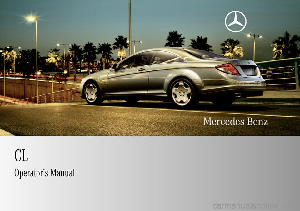 Mercedes Benz Cl65amg 2009 C216 Owner S Manual