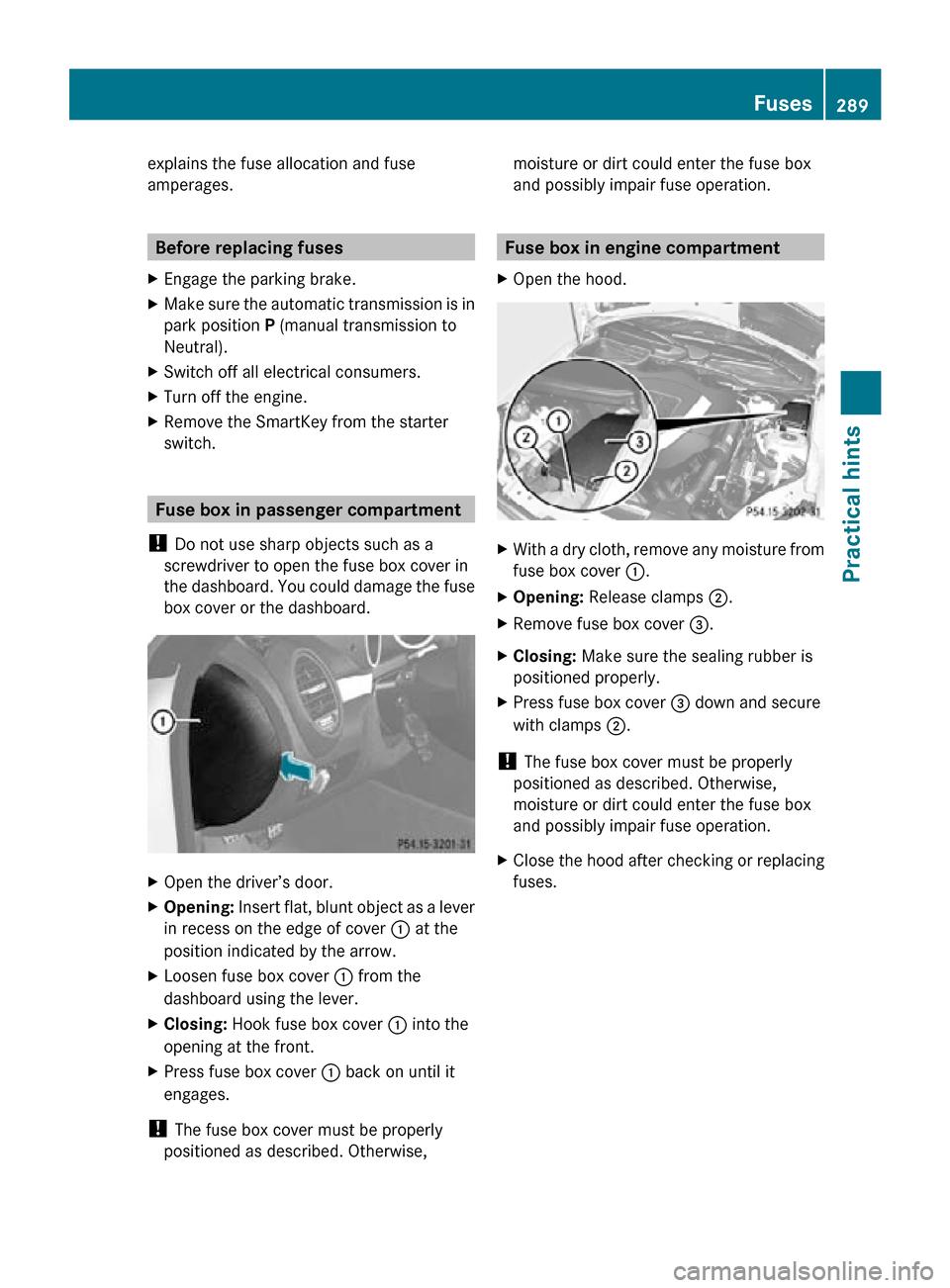 Mercedes Benz Slk300 2010 R171 Owners Manual Valeo Alternator Wiring Diagram 1230 Page 291