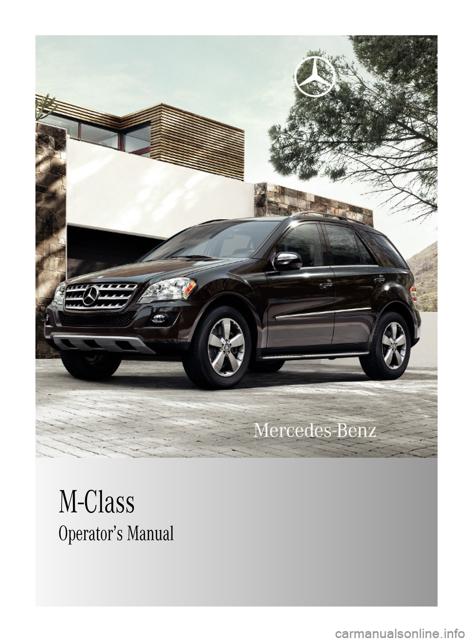 Mercedes Benz Ml350 2010 W164 Owner S Manual