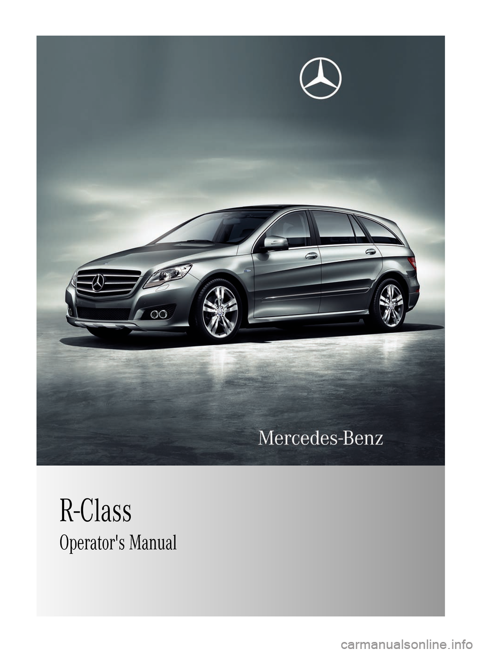 Mercedes Benz R Class 2011 W251 Owner S Manual