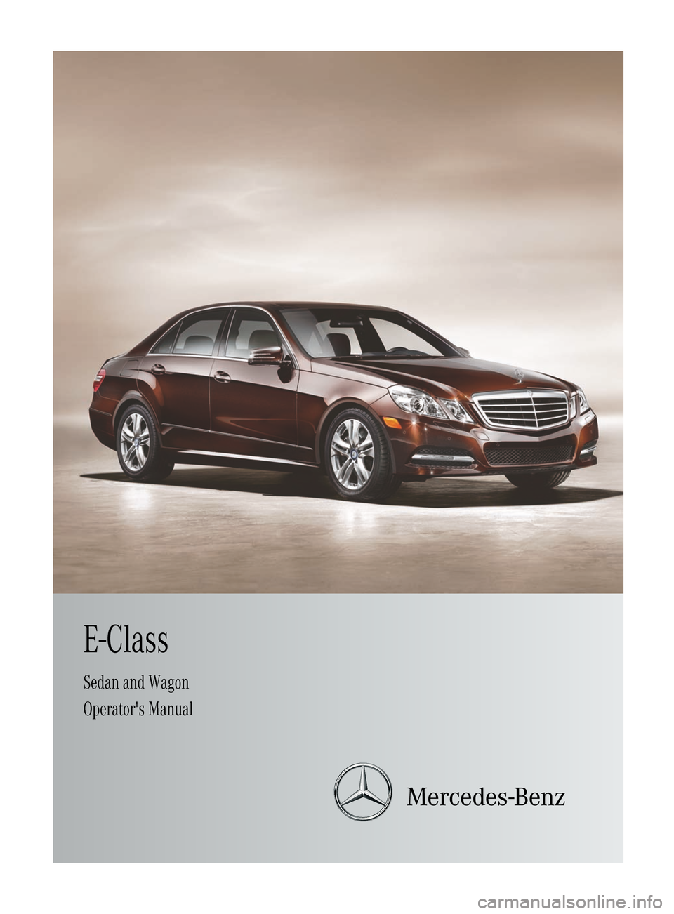 Mercedes benz e class wagon 2012 w212 owner 39 s manual for Mercedes benz online repair manual